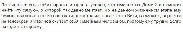 Виктор Литвинов планирует возвращение на проект